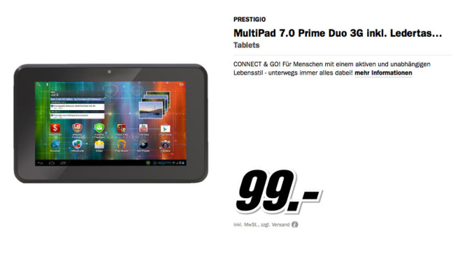 Prestigio MultiPad 7.0 Prime Duo 3G © Media Markt