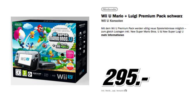 Wii U Mario + Luigi Premium Pack ©Media Markt