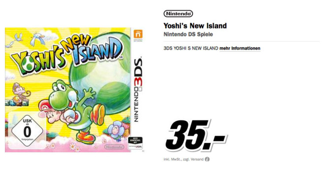 Yoshi's New Island ©Media Markt