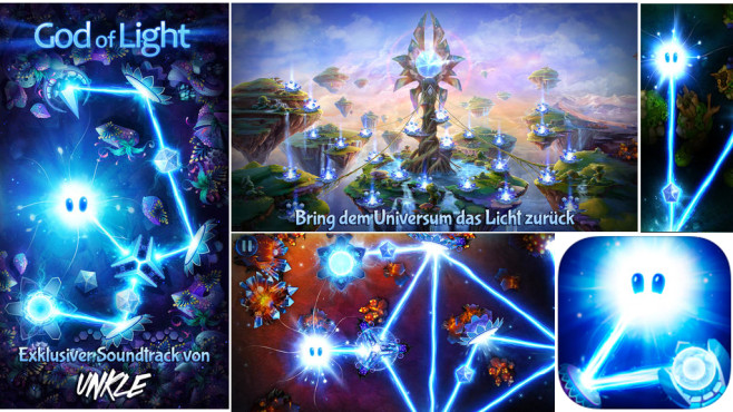 God of Light Physik-Puzzle für iOS © Playmous