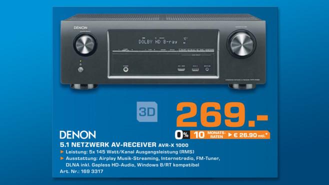 Denon AVR-X1000 ©Saturn