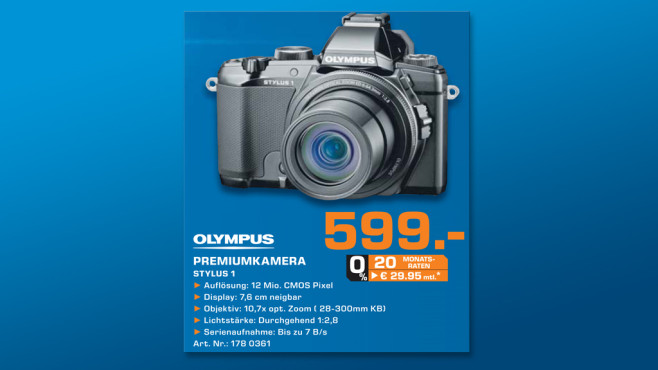 Olympus STYLUS 1 ©Saturn