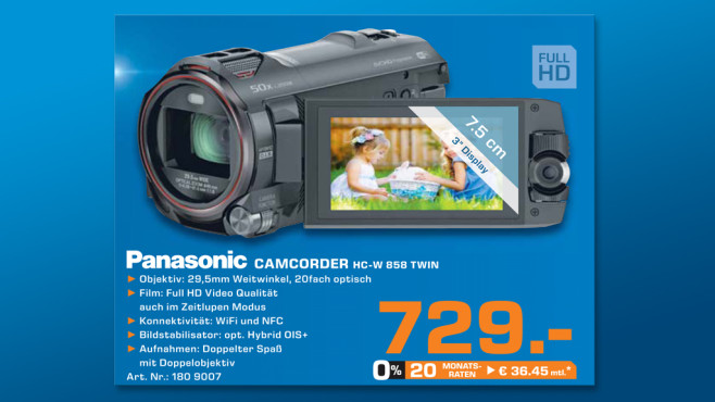 Panasonic HC-W858 © Saturn
