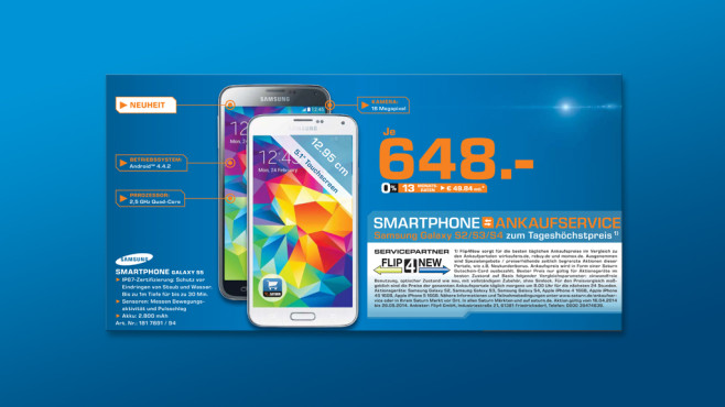 Samsung Galaxy S5 ©Saturn