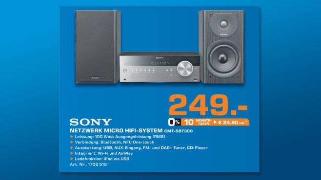 Sony CMT-SBT300WB ©Saturn