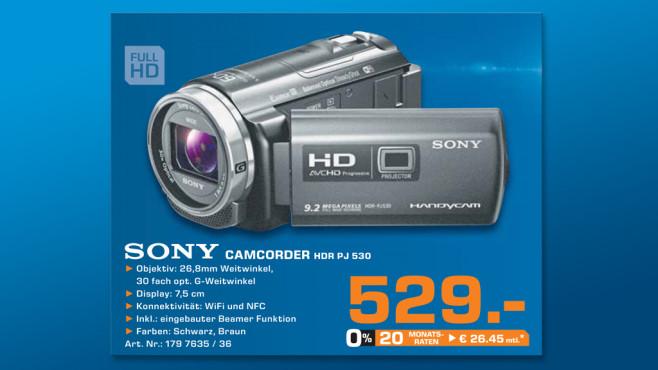 Sony HDR-PJ530E ©Saturn