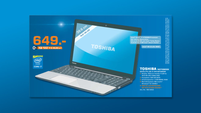 Toshiba Satellite L50-A-1FM © Saturn