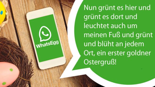 WhatsApp-Ostern: Die coolsten Spr�che zur Eierjagd ©WhatsApp, maglara - Fotolia.com