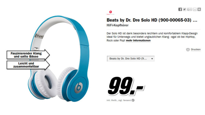 Beats By Dre Solo HD © Media Markt