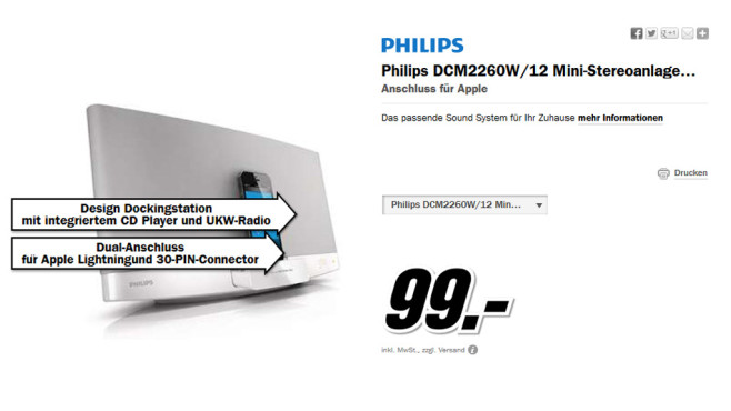 Philips DCM2260 © Media Markt