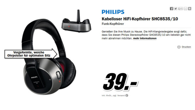 Philips SHC8535 © Media Markt