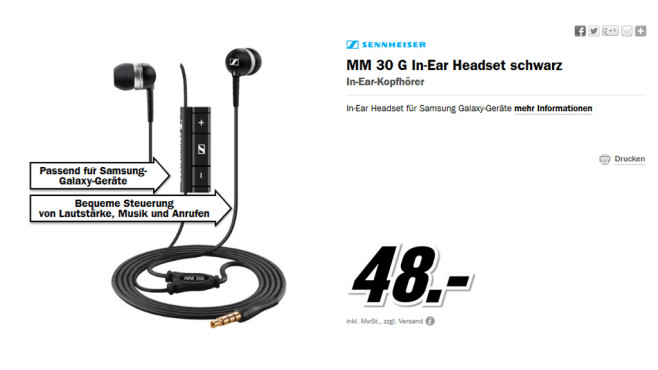 Sennheiser MM 30G © Media Markt