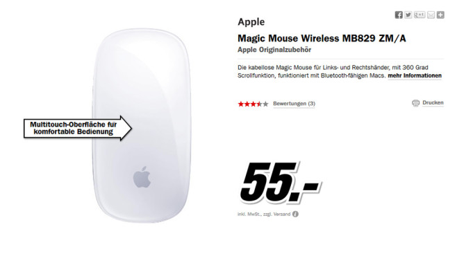 Apple Magic Mouse © Media Markt