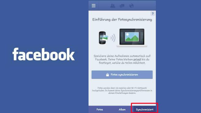 Facebook Fotosynchronisierung ©Facebook, COMPUTER BILD
