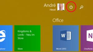 Ausschaltknopf in Windows 8.1 Update ©COMPUTER BILD