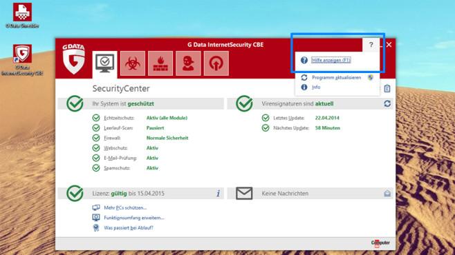 G Data Internet Security CBE ©COMPUTER BILD