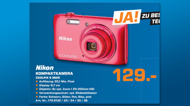 Nikon Coolpix S 3600 © Saturn