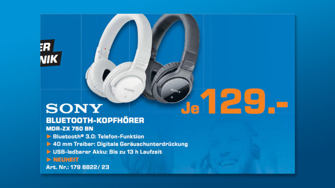 Sony MDR-ZX 750 BN © Saturn