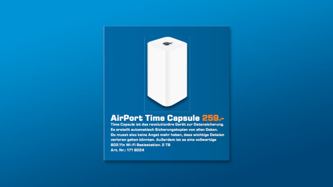 Apple AirPort Time Capsule 2TB © Saturn