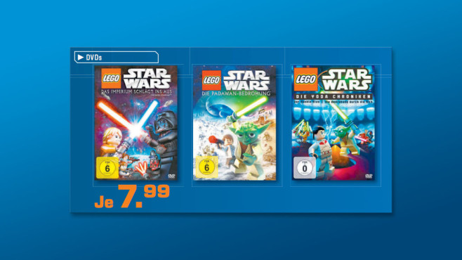 Lego Star Wars: diverse DVDs © Saturn