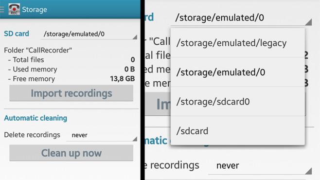 Call Recorder: Archivierung von Telefonaten (Storage) ©Clever Mobile