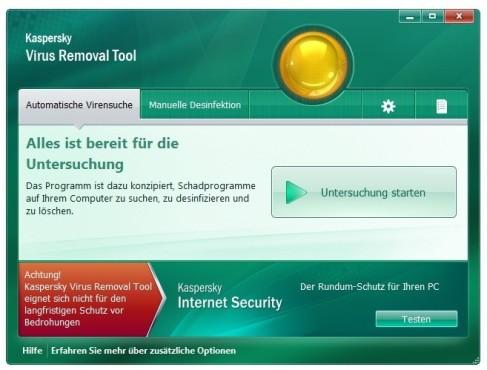 Kaspersky Virus Removal Tool ©COMPUTER BILD