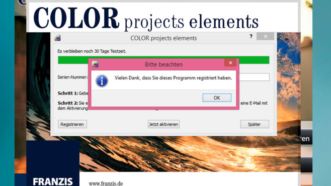 Color Projects Elements: So klappt die Installation © COMPUTER BILD