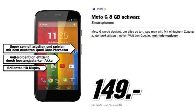 Moto G 8 GB ©Media Markt