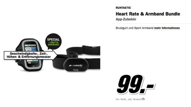 Runtastic Bluetooth Smart Combo Brustgurt ©Media Markt