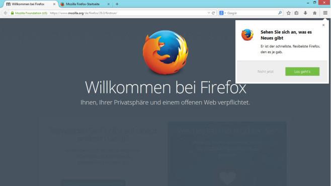 Firefox 29 mit neuem Design: Mozilla-Browser im Praxis-Test ©Firefox, COMPUTER BILD