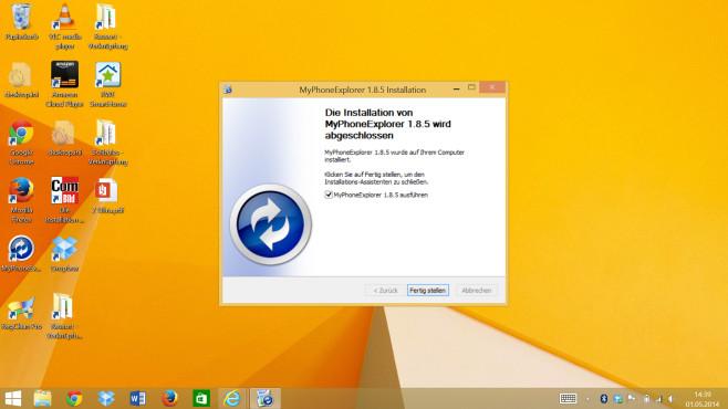 Schritt 3: MyPhoneExplorer auf PC starten ©COMPUTER BILD