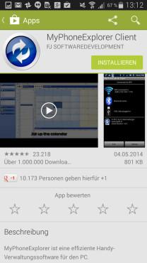 Schritt 7: MyPhoneExplorer auf dem Smartphone installieren ©COMPUTER BILD