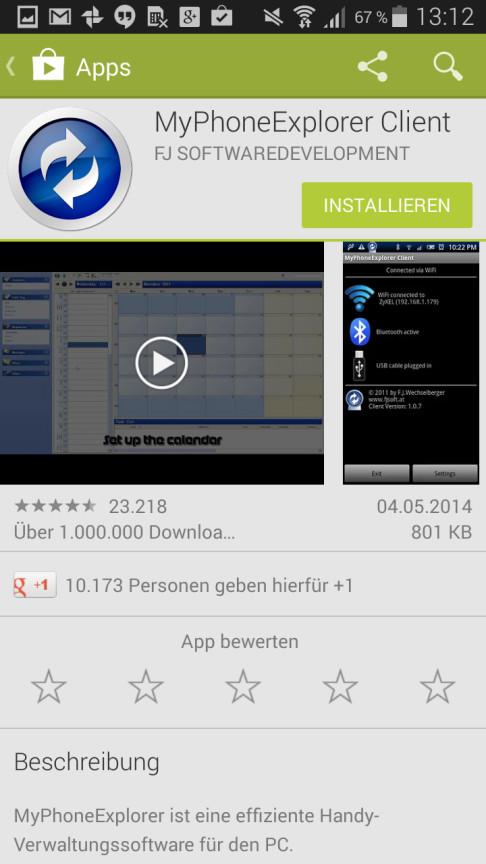 verbindung apps zwischen handy und pc