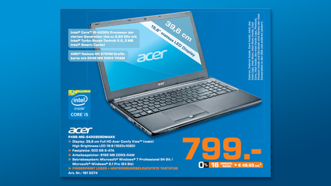 Acer Travel Mate P455-MG-54208G50Makk © Saturn