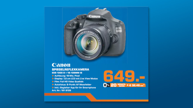 Canon EOS 1200D Kit 18-135 mm © Saturn