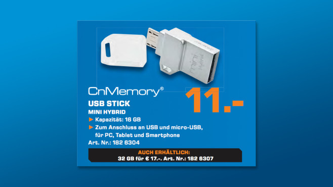 CnMemory 16 GB Mini Hybrid © Saturn