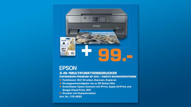 Epson Expression Premium XP-510 inkl. 2 Schwarztinte ©Saturn