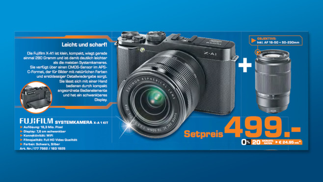 Fujifilm X-A1 ©Saturn