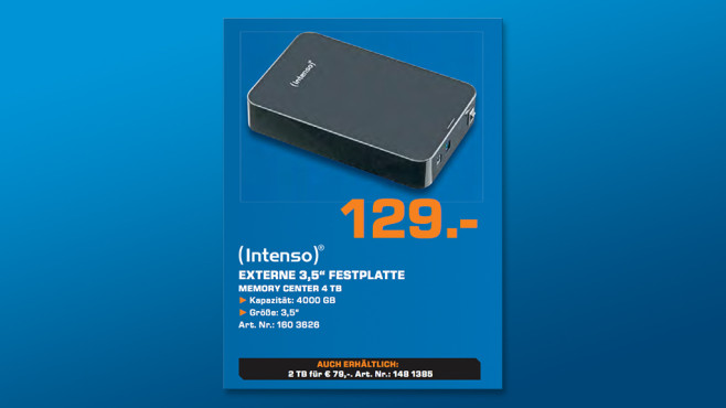 Intenso Memory Center 4 TB © Saturn