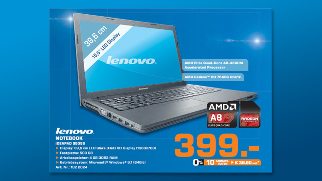 Lenovo Essential G505s (59405605) © Saturn