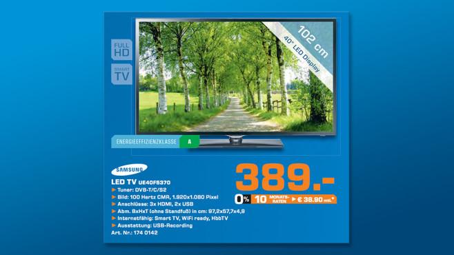 Samsung UE40F5370 ©Saturn