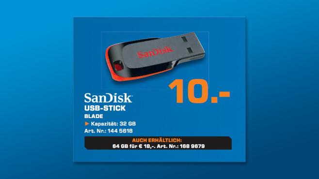 SanDisk Cruzer Blade 32 GB ©Saturn