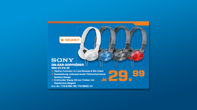 Sony MDR-ZX310 ©Saturn