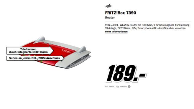 AVM Fritz!Box 7390 ©Media Markt
