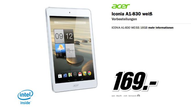Acer Iconia A1-830 ©Media Markt
