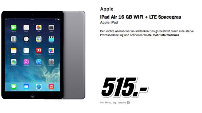 Apple iPad Air 16GB WiFi + 4G ©Media Markt