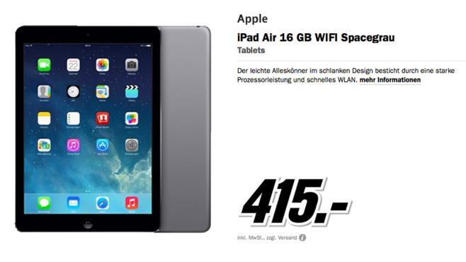Apple iPad Air 16GB Wifi ©Media Markt