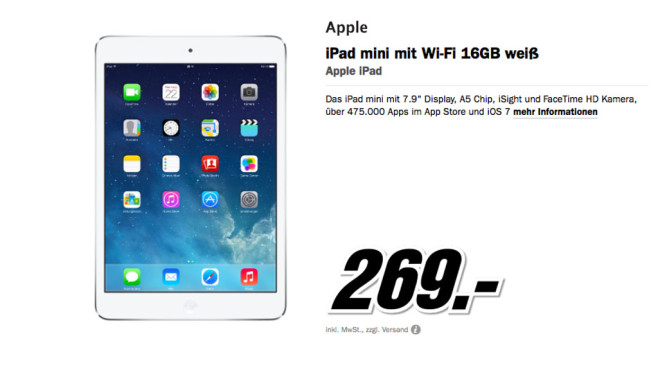 Apple iPad Mini 16 GB Wifi ©Media Markt