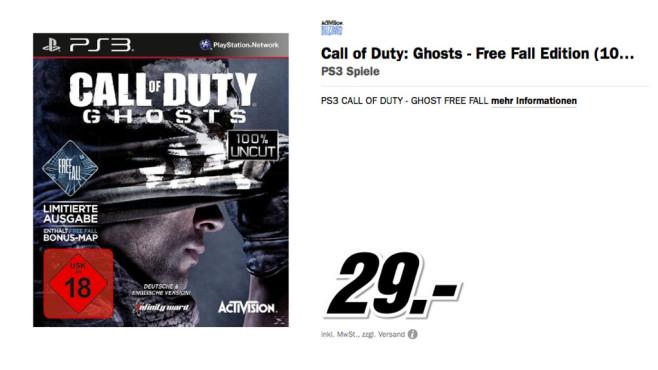 Call of Duty: Ghosts - Limitierte Ausgabe (PS3) ©Media Markt