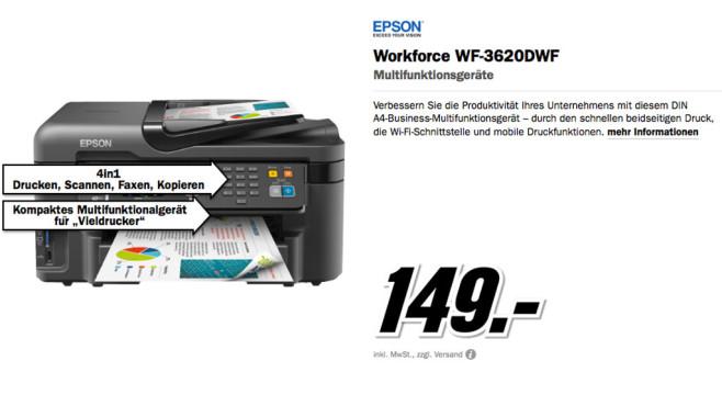 EPSON Workforce WF-3620DWF ©Media Markt